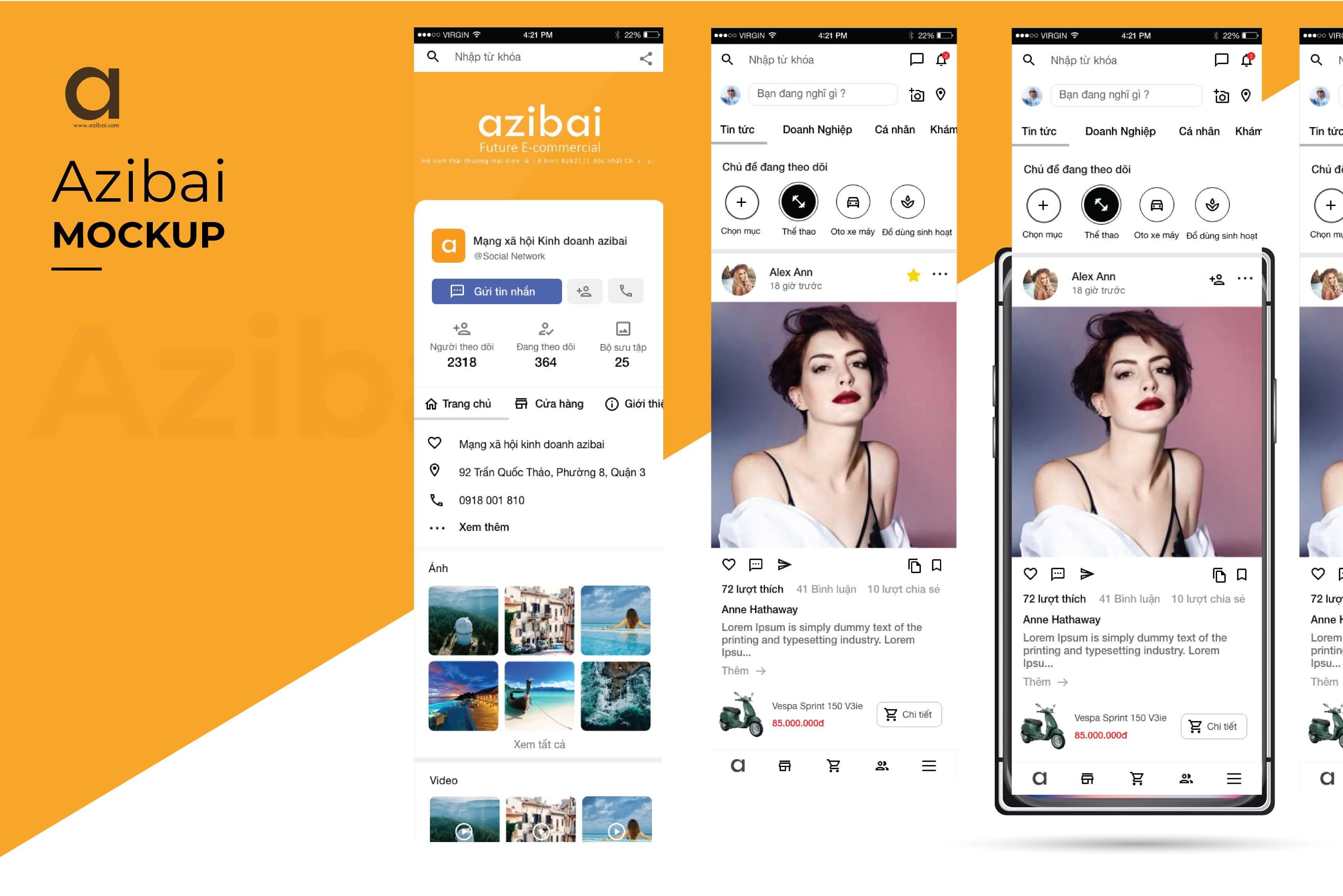 Azibai Social App Mobile
